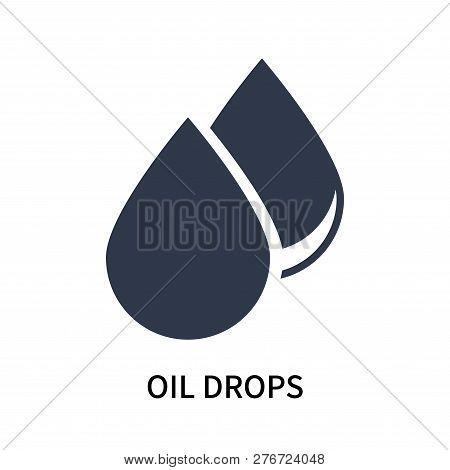 Oil Drops Icon Isolated On White Background. Oil Drops Icon Simple Sign. Oil Drops Icon Trendy And M