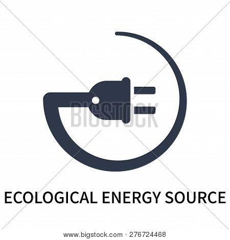 Ecological Energy Source Icon Isolated On White Background. Ecological Energy Source Icon Simple Sig