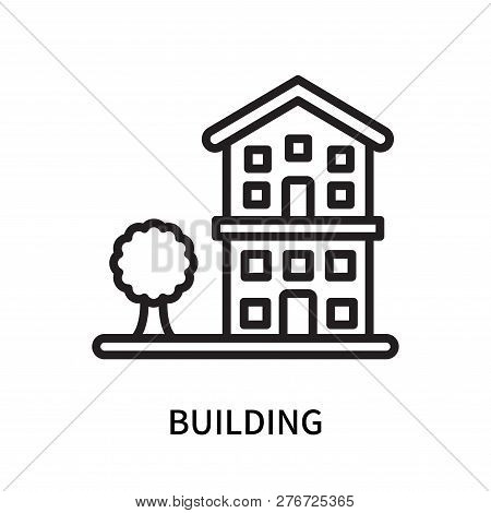 Building Icon Isolated On White Background. Building Icon Simple Sign. Building Icon Trendy And Mode