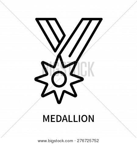 Medallion Icon Isolated On White Background. Medallion Icon Simple Sign. Medallion Icon Trendy And M
