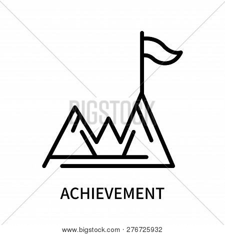 Achievement Icon Isolated On White Background. Achievement Icon Simple Sign. Achievement Icon Trendy
