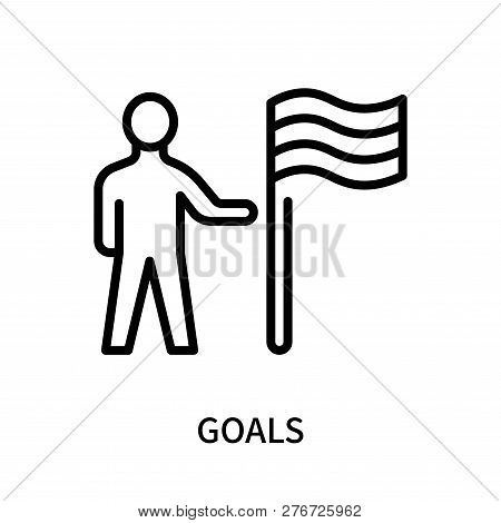 Goals Icon Isolated On White Background. Goals Icon Simple Sign. Goals Icon Trendy And Modern Symbol