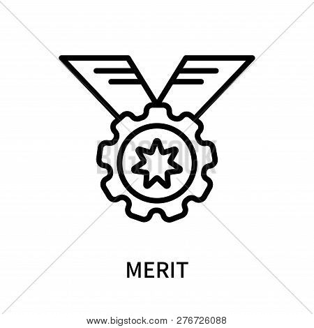 Merit Icon Isolated On White Background. Merit Icon Simple Sign. Merit Icon Trendy And Modern Symbol