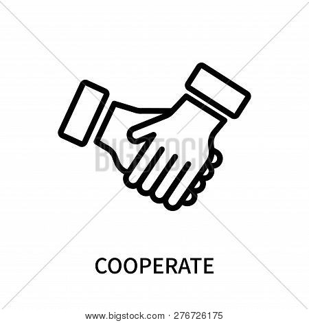 Cooperate Icon Isolated On White Background. Cooperate Icon Simple Sign. Cooperate Icon Trendy And M
