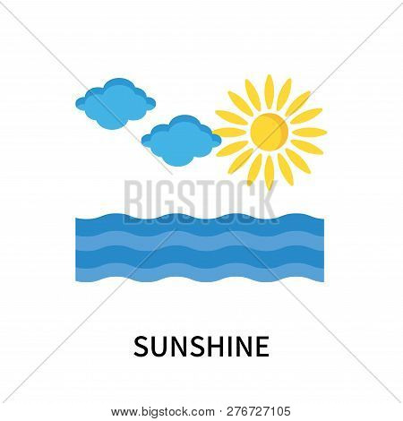 Sunshine Icon Isolated On White Background. Sunshine Icon Simple Sign. Sunshine Icon Trendy And Mode