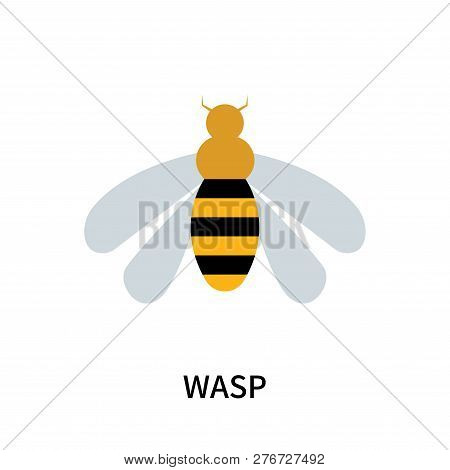 Wasp Icon Isolated On White Background. Wasp Icon Simple Sign. Wasp Icon Trendy And Modern Symbol Fo