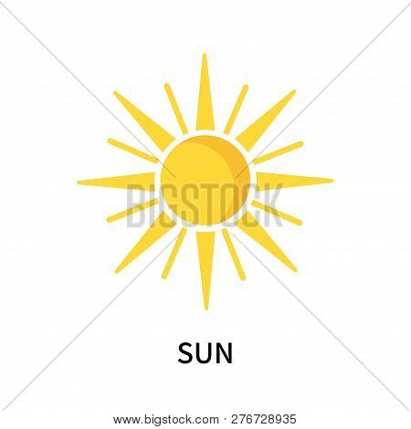 Sun Icon Isolated On White Background. Sun Icon Simple Sign. Sun Icon Trendy And Modern Symbol For G