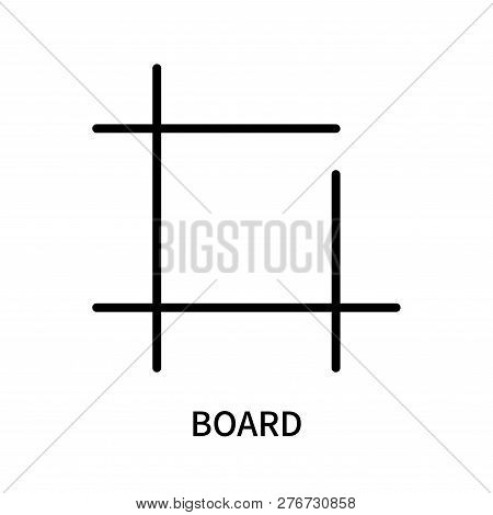 Board Icon Isolated On White Background. Board Icon Simple Sign. Board Icon Trendy And Modern Symbol