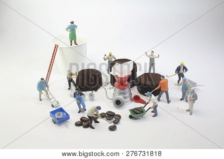 People Working With Coffee Bean ,selective Focus