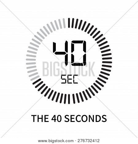 The 40 Seconds Icon Isolated On White Background. The 40 Seconds Icon Simple Sign. The 40 Seconds Ic