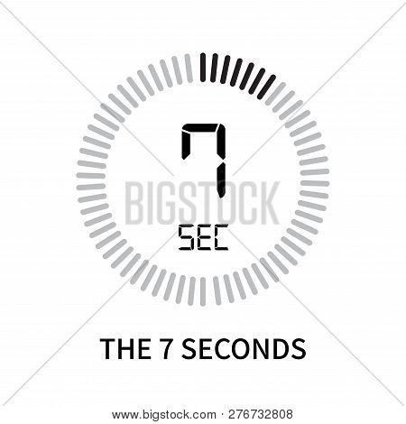 The 7 Seconds Icon Isolated On White Background. The 7 Seconds Icon Simple Sign. The 7 Seconds Icon