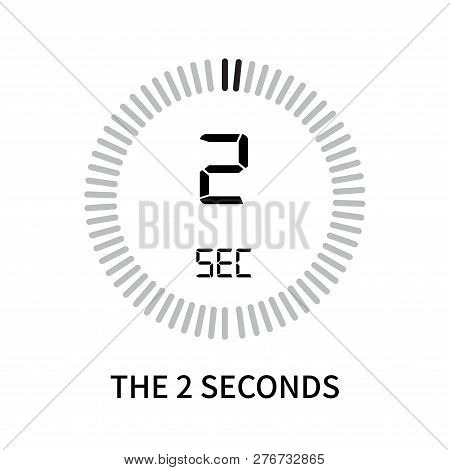 The 2 Seconds Icon Isolated On White Background. The 2 Seconds Icon Simple Sign. The 2 Seconds Icon