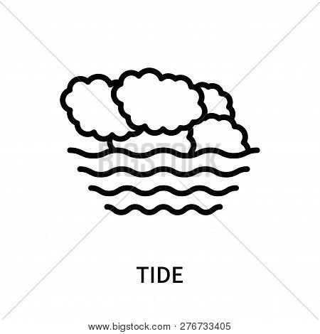 Tide Icon Isolated On White Background. Tide Icon Simple Sign. Tide Icon Trendy And Modern Symbol Fo