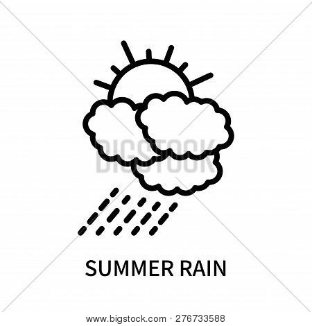 Summer Rain Icon Isolated On White Background. Summer Rain Icon Simple Sign. Summer Rain Icon Trendy