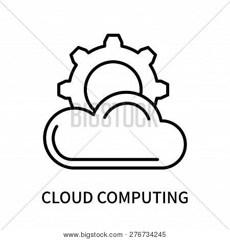 Cloud Computing Icon Isolated On White Background. Cloud Computing Icon Simple Sign. Cloud Computing