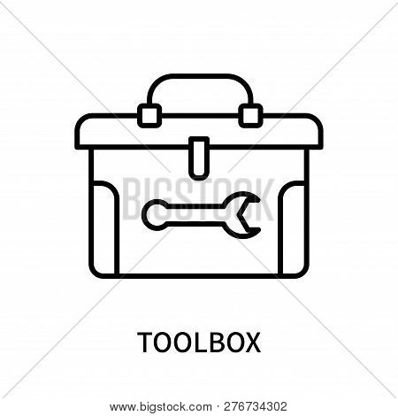 Toolbox Icon Isolated On White Background. Toolbox Icon Simple Sign. Toolbox Icon Trendy And Modern