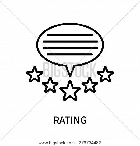 Rating Icon Isolated On White Background. Rating Icon Simple Sign. Rating Icon Trendy And Modern Sym