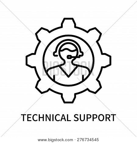 Technical Support Icon Isolated On White Background. Technical Support Icon Simple Sign. Technical S