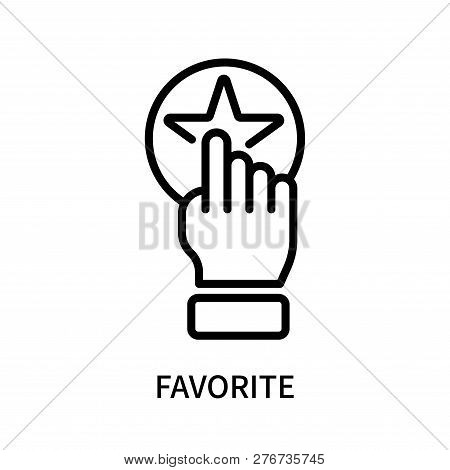 Favorite Icon Isolated On White Background. Favorite Icon Simple Sign. Favorite Icon Trendy And Mode