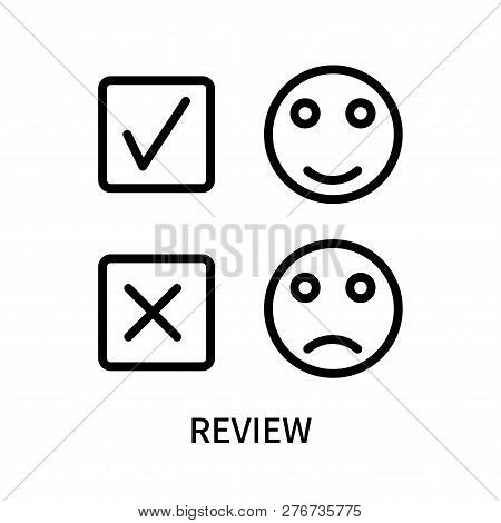 Review Icon Isolated On White Background. Review Icon Simple Sign. Review Icon Trendy And Modern Sym