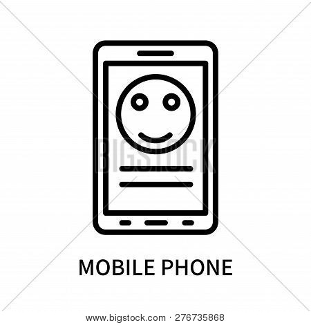 Mobile Phone Icon Isolated On White Background. Mobile Phone Icon Simple Sign. Mobile Phone Icon Tre