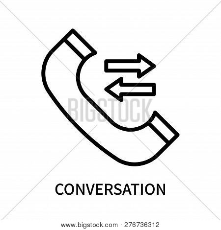 Conversation Icon Isolated On White Background. Conversation Icon Simple Sign. Conversation Icon Tre