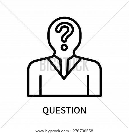 Question Icon Isolated On White Background. Question Icon Simple Sign. Question Icon Trendy And Mode