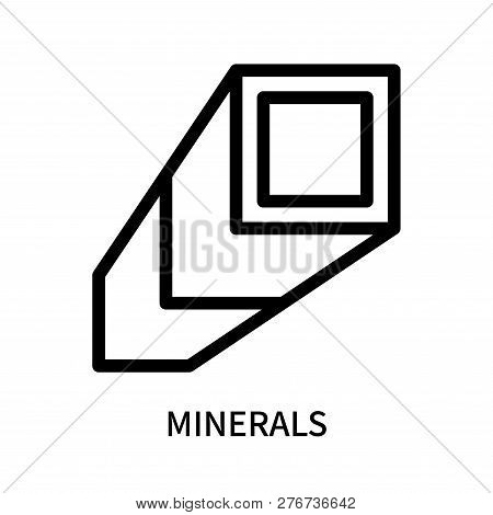 Minerals Icon Isolated On White Background. Minerals Icon Simple Sign. Minerals Icon Trendy And Mode
