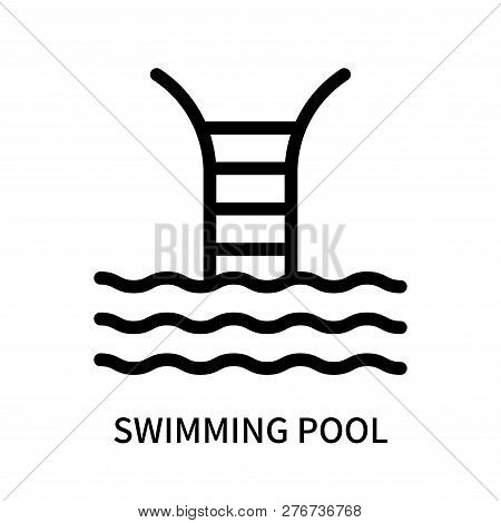 Swimming Pool Icon Isolated On White Background. Swimming Pool Icon Simple Sign. Swimming Pool Icon