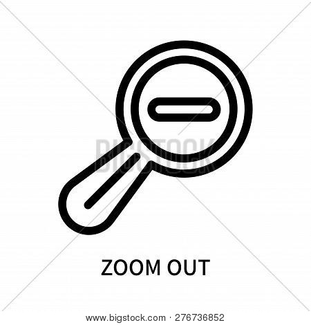 Zoom Out Icon Isolated On White Background. Zoom Out Icon Simple Sign. Zoom Out Icon Trendy And Mode