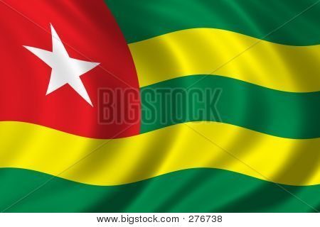 flag of togo waving in the wind poster