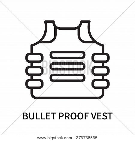 Bullet Proof Vest Icon Isolated On White Background. Bullet Proof Vest Icon Simple Sign. Bullet Proo