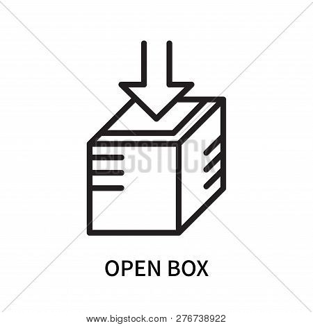 Open Box Icon Isolated On White Background. Open Box Icon Simple Sign. Open Box Icon Trendy And Mode