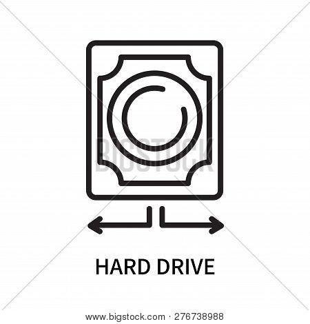 Hard Drive Icon Isolated On White Background. Hard Drive Icon Simple Sign. Hard Drive Icon Trendy An