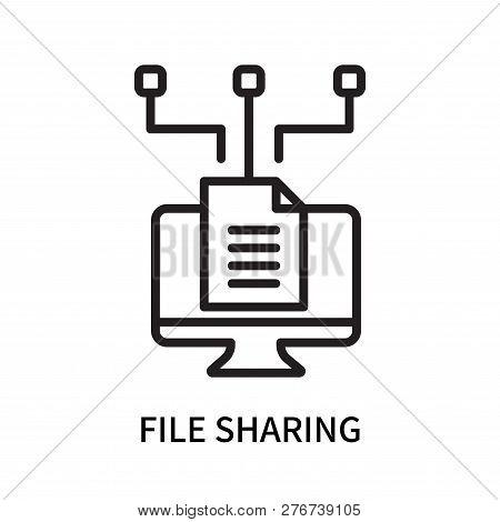 File Sharing Icon Isolated On White Background. File Sharing Icon Simple Sign. File Sharing Icon Tre
