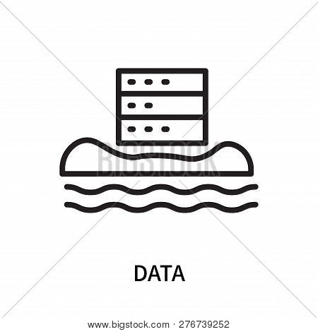 Data Icon Isolated On White Background. Data Icon Simple Sign. Data Icon Trendy And Modern Symbol Fo