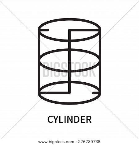 Cylinder Icon Isolated On White Background. Cylinder Icon Simple Sign. Cylinder Icon Trendy And Mode