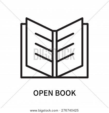 Open Book Icon Isolated On White Background. Open Book Icon Simple Sign. Open Book Icon Trendy And M