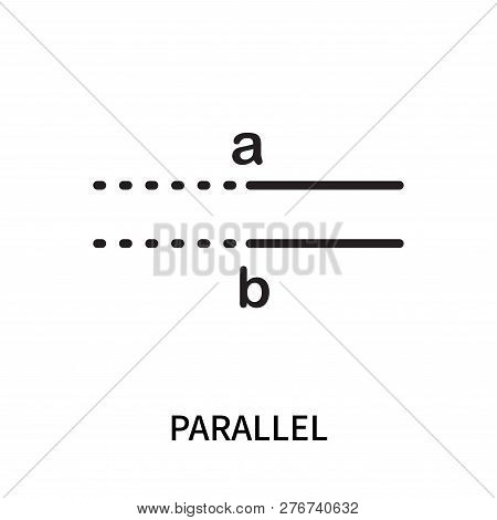 Parallel Icon Isolated On White Background. Parallel Icon Simple Sign. Parallel Icon Trendy And Mode