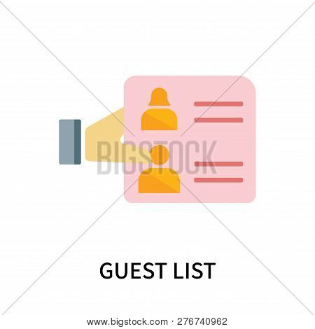 Guest List Icon Isolated On White Background. Guest List Icon Simple Sign. Guest List Icon Trendy An