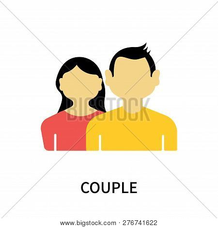 Couple Icon Isolated On White Background. Couple Icon Simple Sign. Couple Icon Trendy And Modern Sym