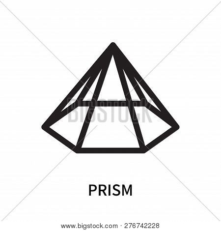 Prism Icon Isolated On White Background. Prism Icon Simple Sign. Prism Icon Trendy And Modern Symbol