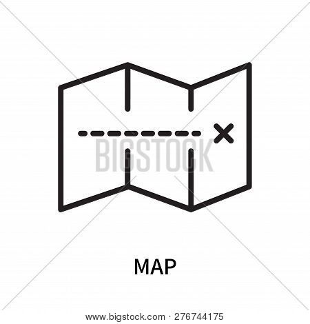Map Icon Isolated On White Background. Map Icon Simple Sign. Map Icon Trendy And Modern Symbol For G