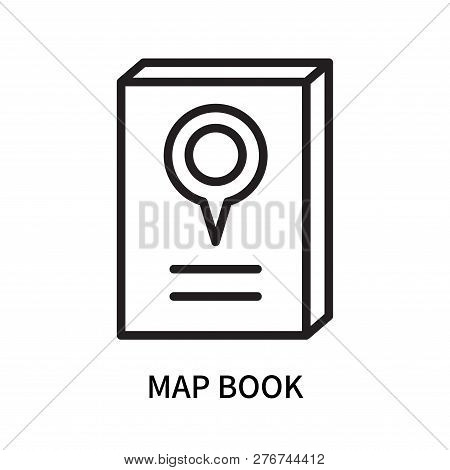 Map Book Icon Isolated On White Background. Map Book Icon Simple Sign. Map Book Icon Trendy And Mode