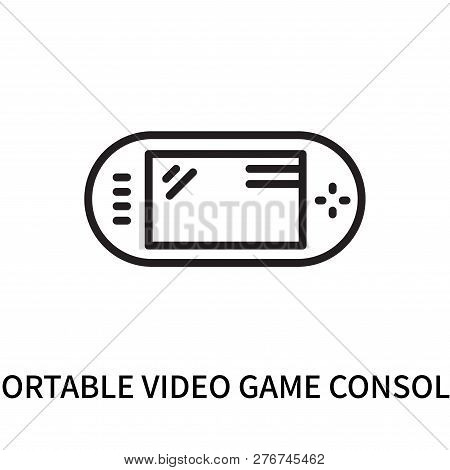 Portable Video Game Console Icon Isolated On White Background. Portable Video Game Console Icon Simp