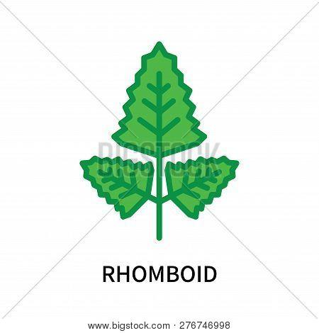 Rhomboid Icon Isolated On White Background. Rhomboid Icon Simple Sign. Rhomboid Icon Trendy And Mode