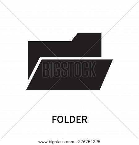 Folder Icon Isolated On White Background. Folder Icon Simple Sign. Folder Icon Trendy And Modern Sym