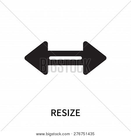 Resize Icon Isolated On White Background. Resize Icon Simple Sign. Resize Icon Trendy And Modern Sym