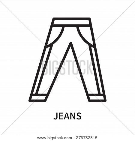 Jeans Icon Isolated On White Background. Jeans Icon Simple Sign. Jeans Icon Trendy And Modern Symbol