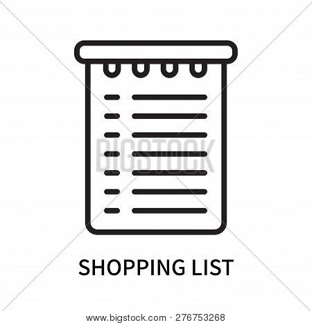 Shopping List Icon Isolated On White Background. Shopping List Icon Simple Sign. Shopping List Icon